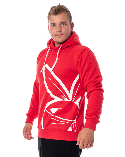 Bluza Z Kapturem 3maj Fason Big Bunny Front Czerwona