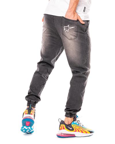 Spodnie Jeans Jogger 3maj Fason Star Wycierane Szare