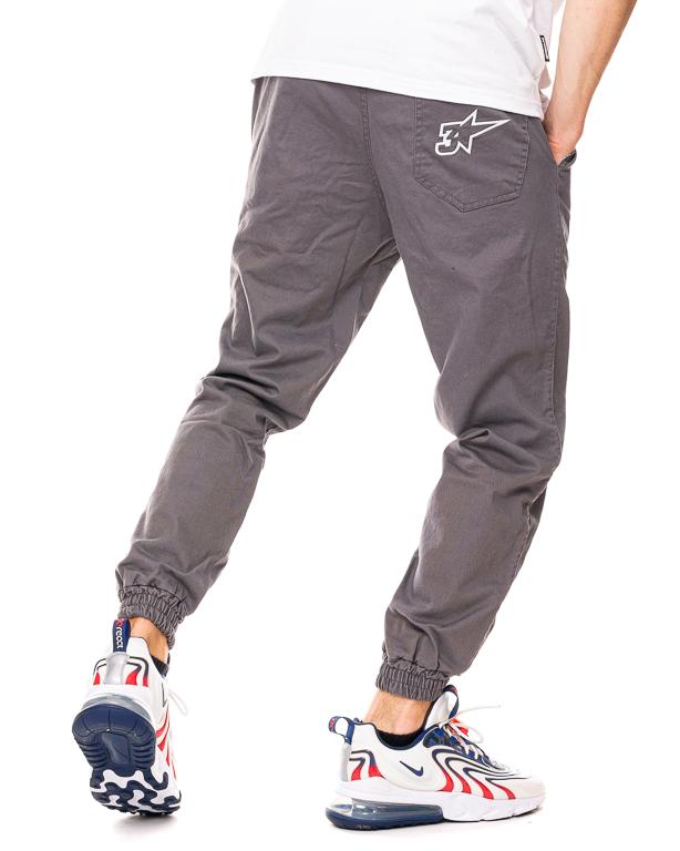 Spodnie Materiałowe Jogger 3maj Fason Star Szare